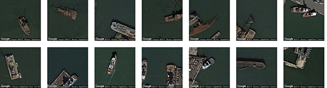 Nautical wrecks in the NYC area, identified by Terrapattern