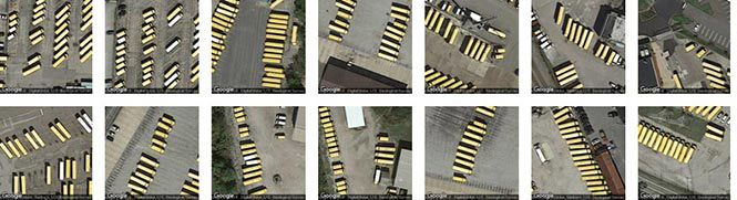 School bus depots in Allegheny county, identified by Terrapattern